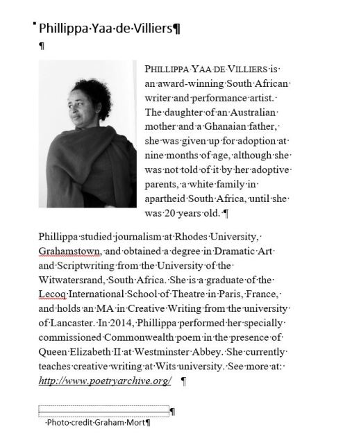 author image Phillippa Yaa de Villiers